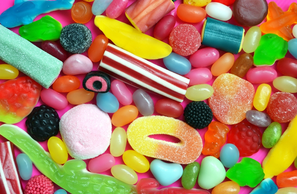 An assortment of bright and colorful candies