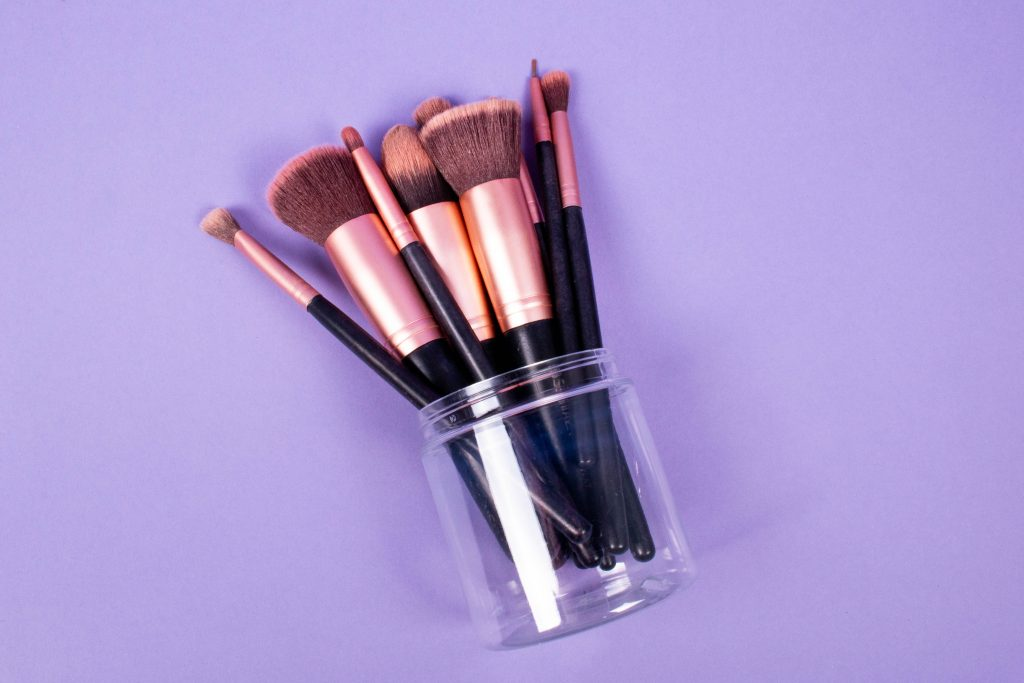 Upcycle for Earth Day: Candy Club cups filled with makeup brushes