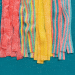 Rows of colorful Candy Club sour belts