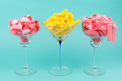Candy inspired cocktail drinks