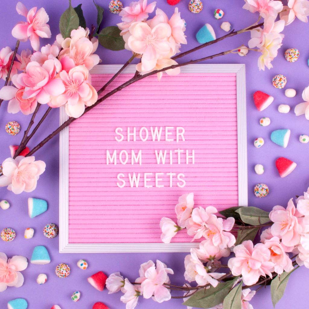 Mother's Day Gift Guide; shower mom with sweets
