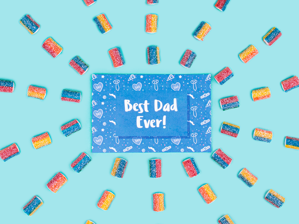 Best Dad Ever! Gift card from Candy Club