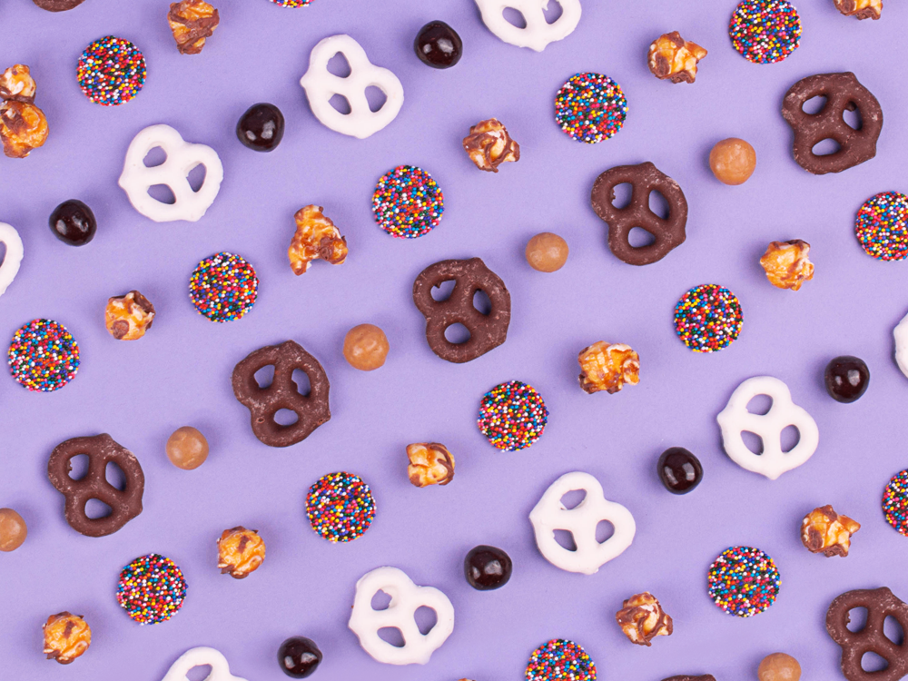 Chocolate candy pattern
