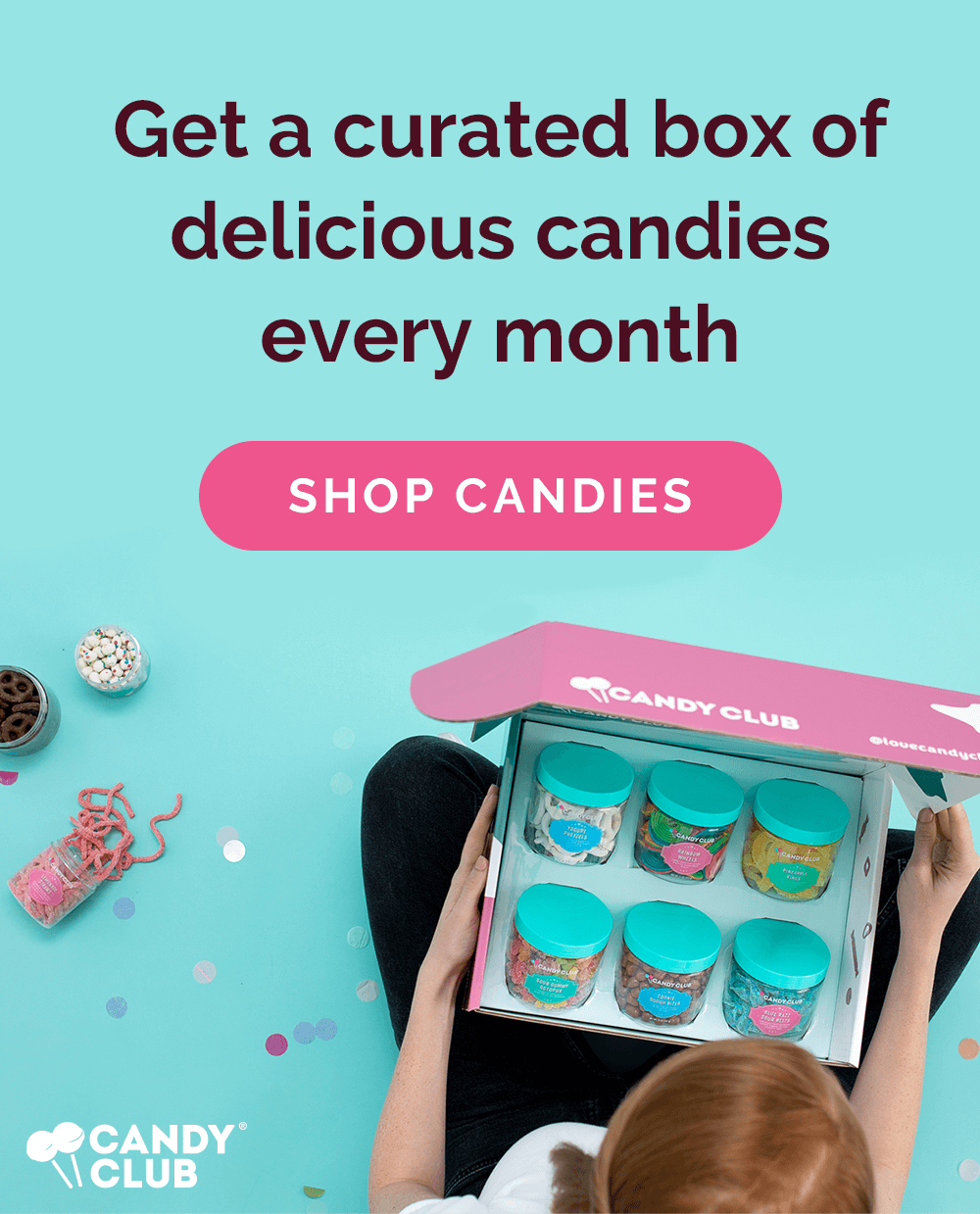 Get a curated box of delicious candies every month! Shop Candy Club