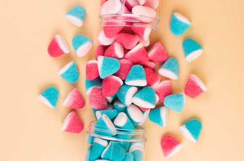 Gender reveal party ideas with sweets