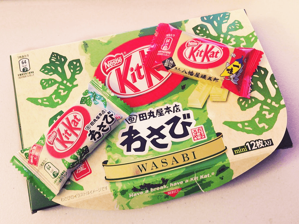 wasabi kit kat. weird candy