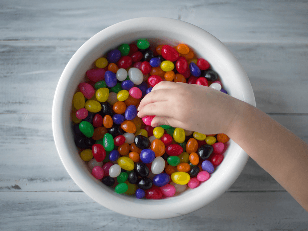 bowl of jelly beans. fun facts