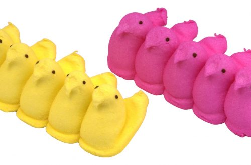 yellow and pink Peeps - history